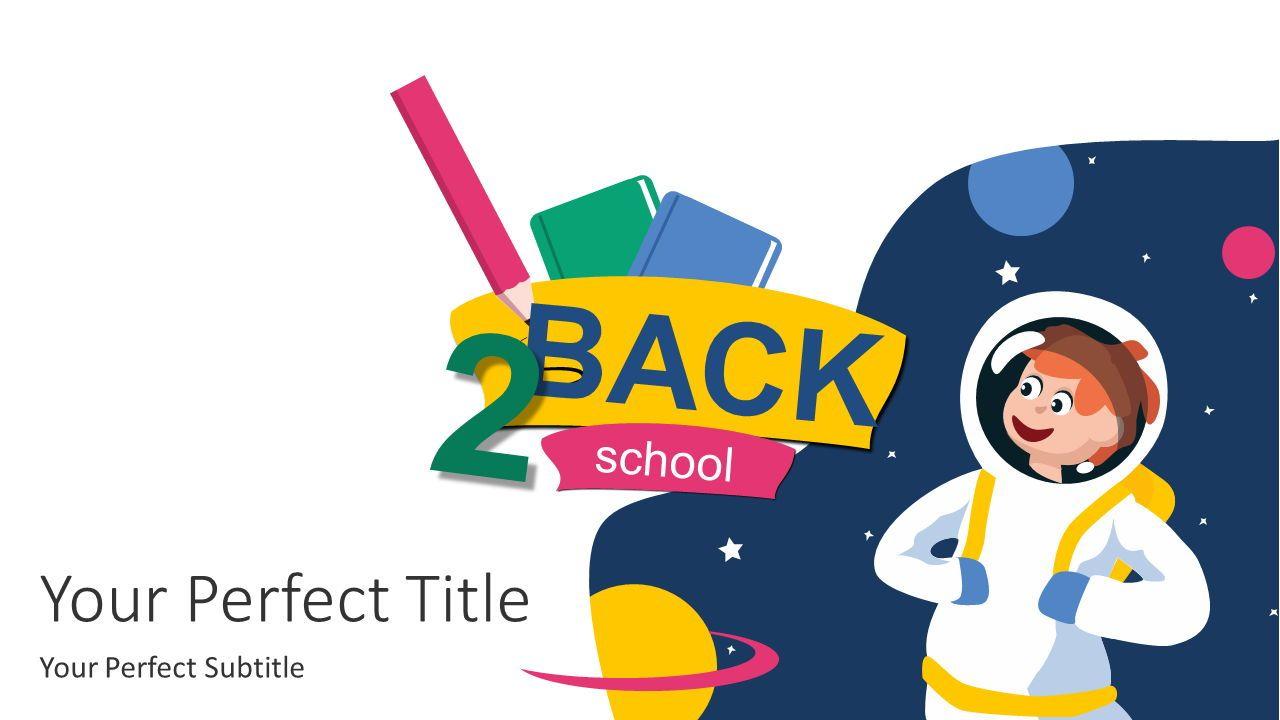 Back 2 School Cover Slide, 07353, Gráficos e Diagramas de Educação — PoweredTemplate.com