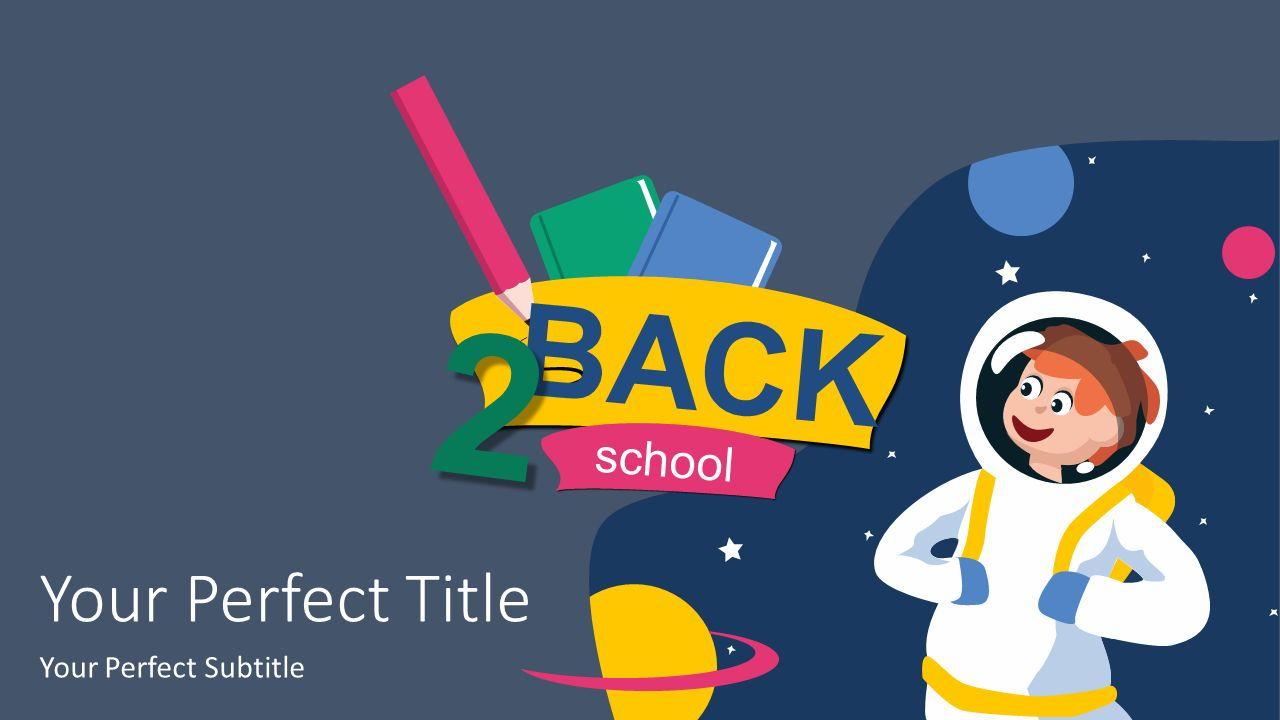 Back 2 School Cover Slide, Deslizar 2, 07353, Gráficos e Diagramas de Educação — PoweredTemplate.com