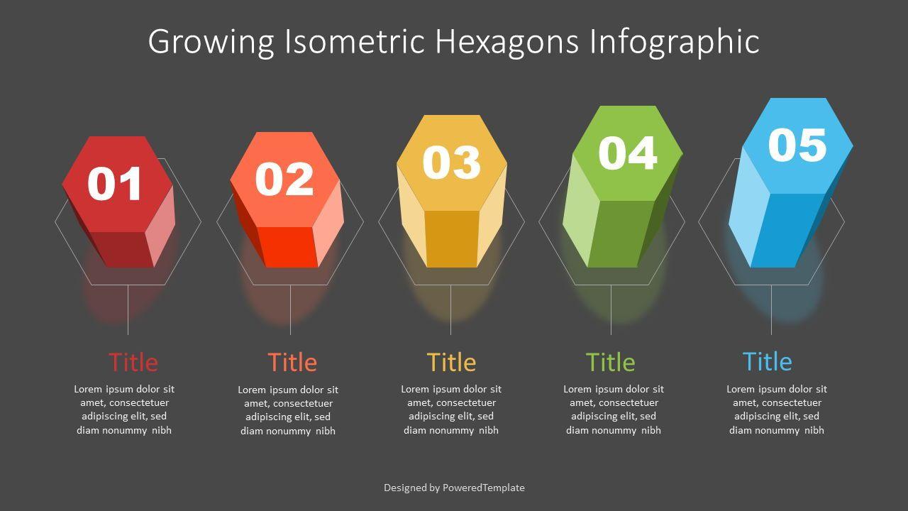 Growing Isometric Hexagonal Prisms Infographic, 07354, Infographics — PoweredTemplate.com