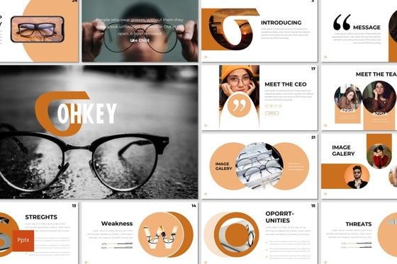 Presentation Templates: Ohkey - PowerPoint Template #07356