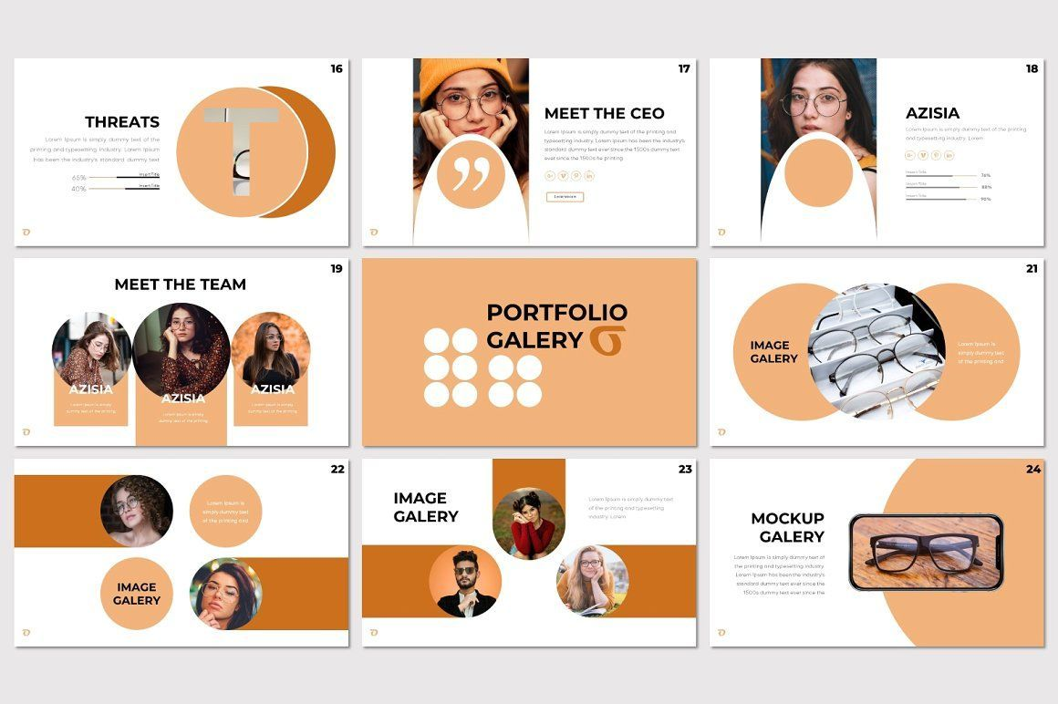 Ohkey - PowerPoint Template, Slide 4, 07356, Presentation Templates — PoweredTemplate.com