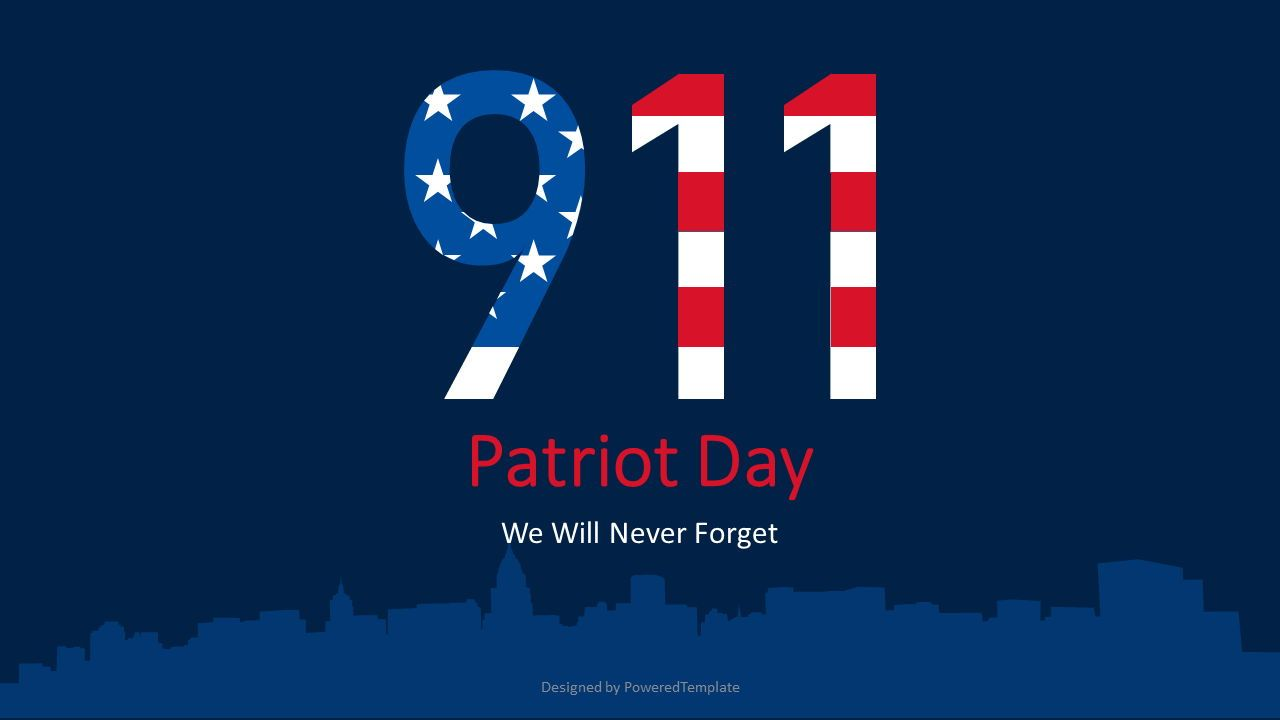 Patriot Day - We Will Never Forget, 07359, Presentation Templates — PoweredTemplate.com