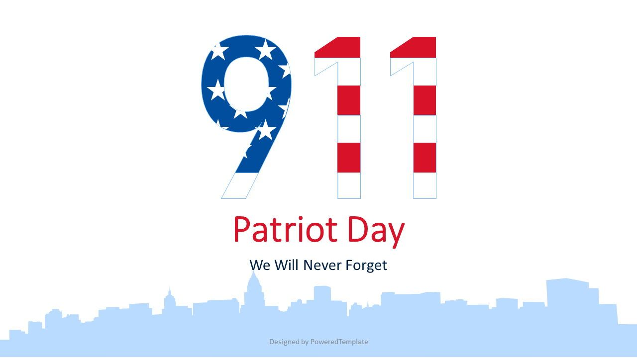 Patriot Day - We Will Never Forget, Slide 2, 07359, Presentation Templates — PoweredTemplate.com