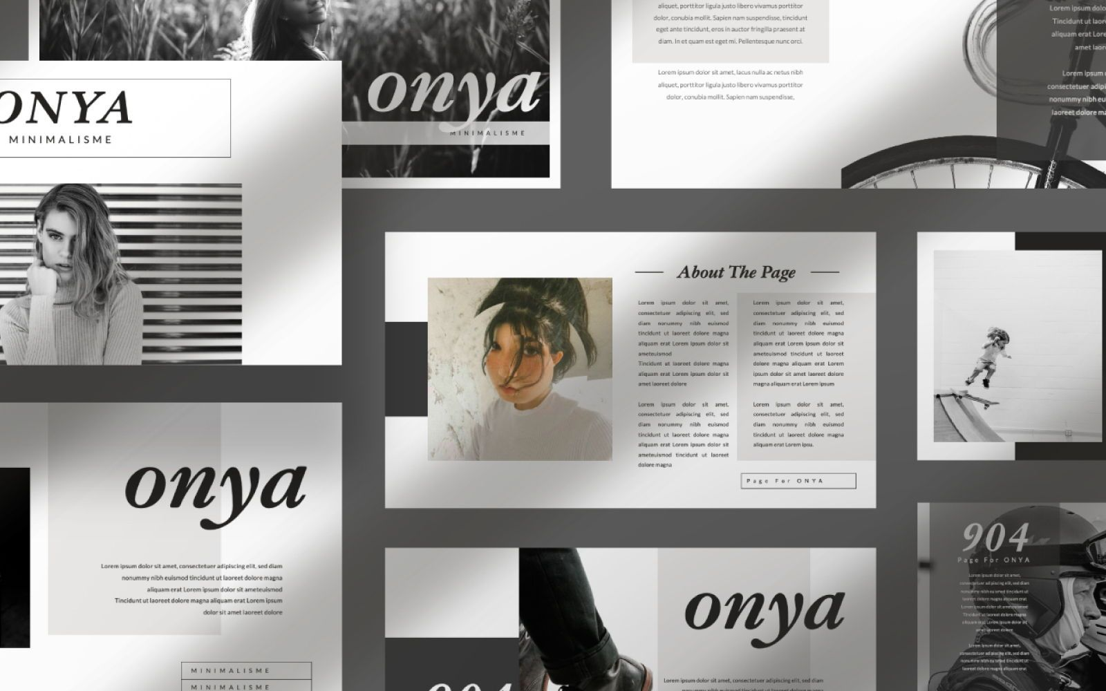 Onya Minimalisme Google Slide, 07360, Presentation Templates — PoweredTemplate.com