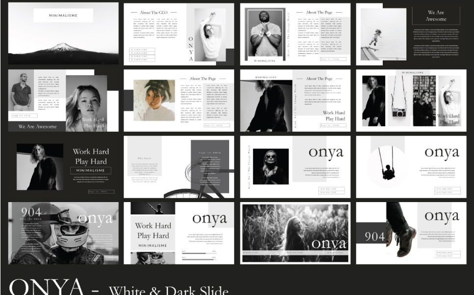 Onya Minimalisme Google Slide, Slide 2, 07360, Presentation Templates — PoweredTemplate.com