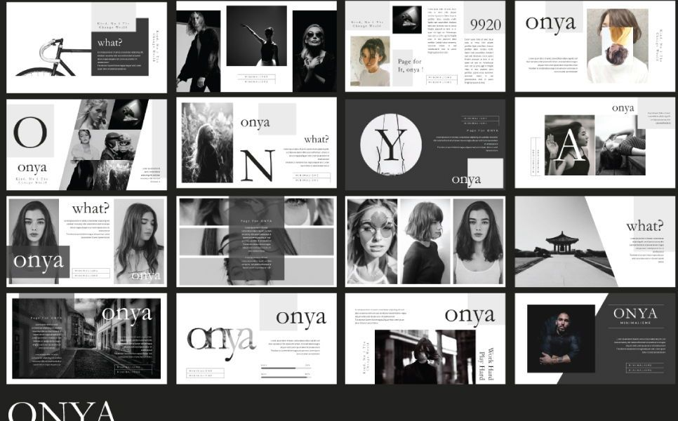 Onya Minimalisme Google Slide, Slide 3, 07360, Presentation Templates — PoweredTemplate.com