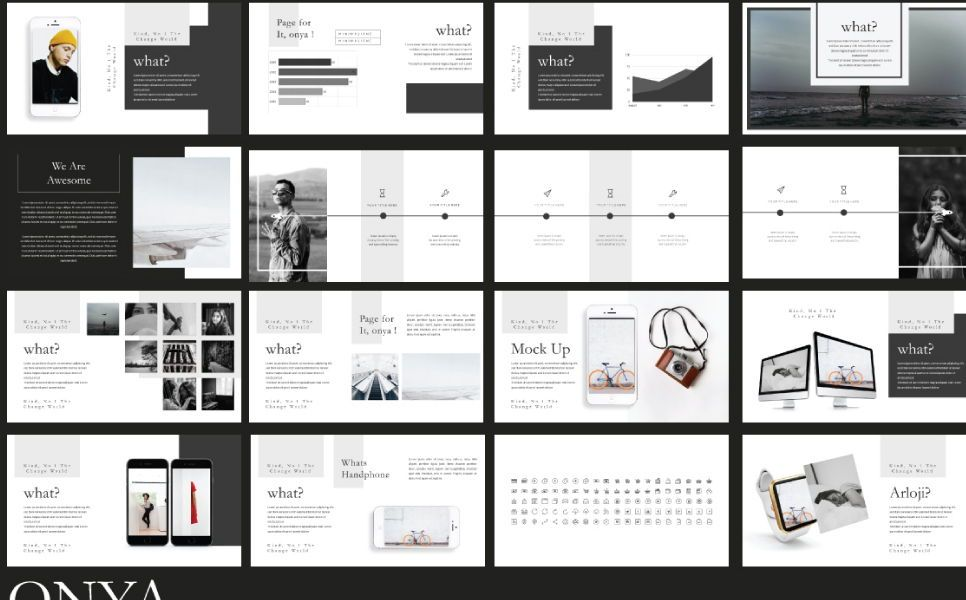 Onya Minimalisme Google Slide, Slide 4, 07360, Presentation Templates — PoweredTemplate.com