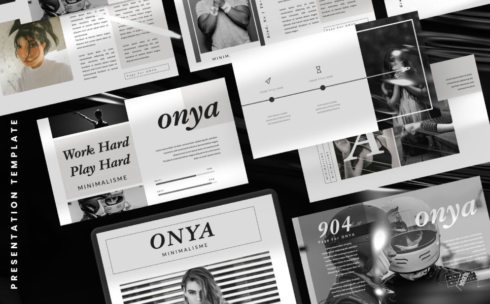 Onya Minimalisme Google Slide, Slide 5, 07360, Presentation Templates — PoweredTemplate.com