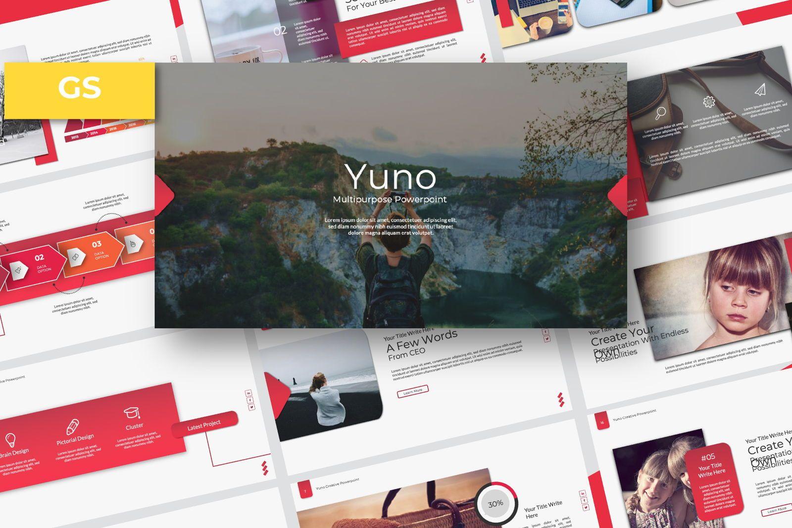 Yuno Business Keynote, 07361, Presentation Templates — PoweredTemplate.com