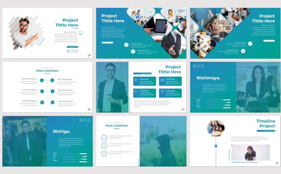 Pitch Deck Business Powerpoint, Slide 4, 07362, Presentation Templates — PoweredTemplate.com