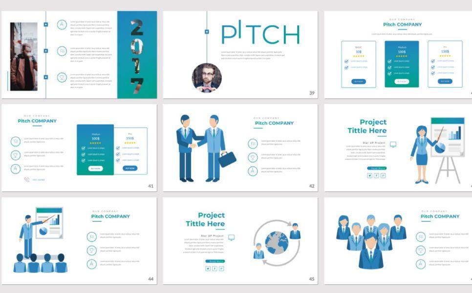 Pitch Deck Business Powerpoint, Slide 5, 07362, Presentation Templates — PoweredTemplate.com