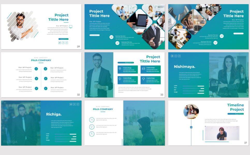 Pitch Deck Business Powerpoint, Slide 6, 07362, Presentation Templates — PoweredTemplate.com