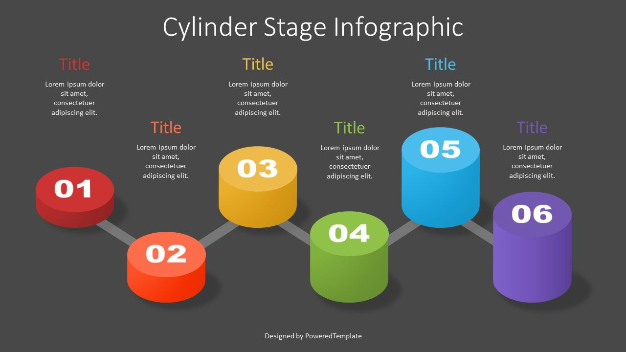 Cylinder Stage Infographic, Slide 2, 07364, Stage Diagrams — PoweredTemplate.com