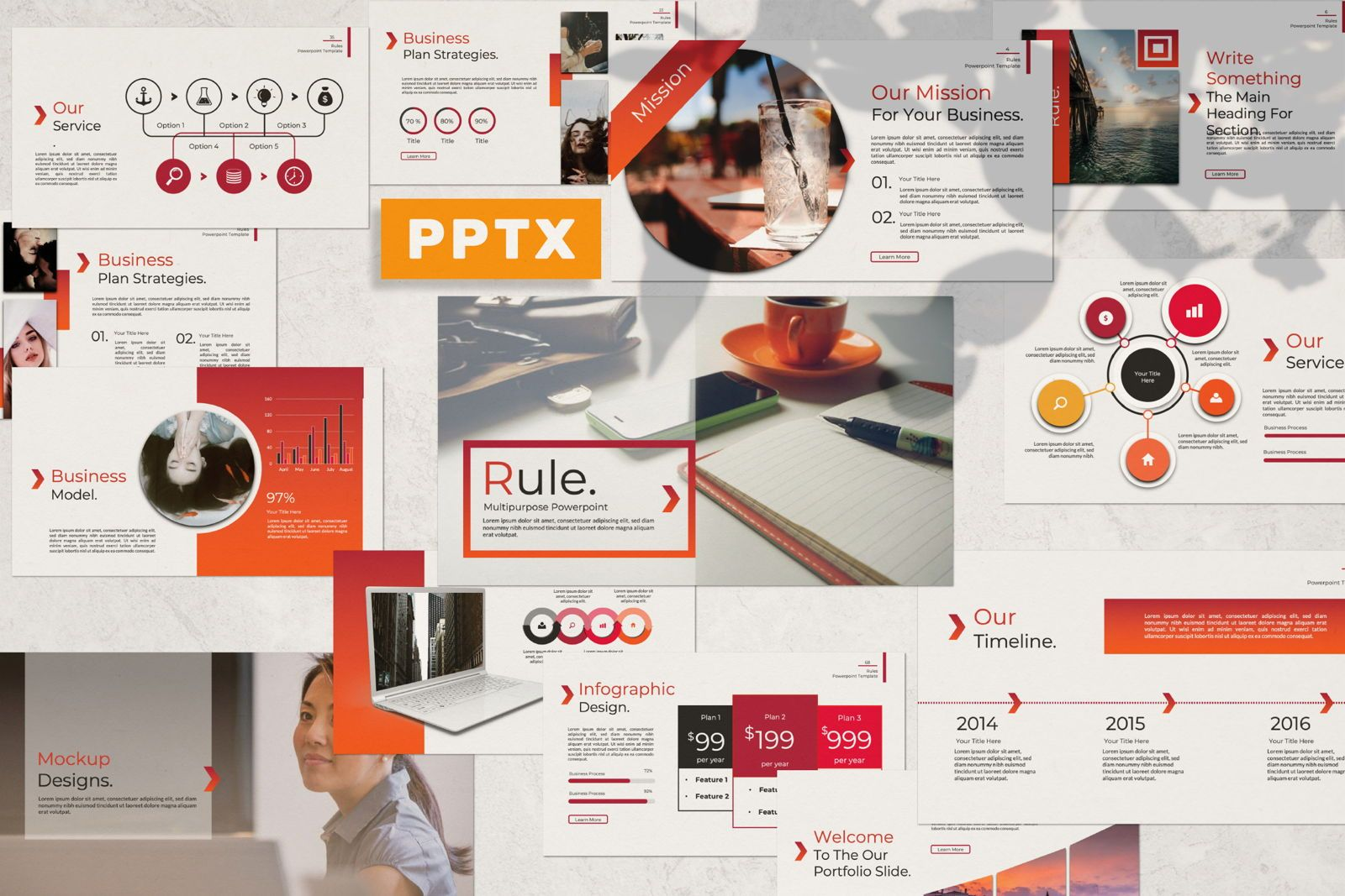 Rule Creative Powerpoint, 07365, Presentation Templates — PoweredTemplate.com