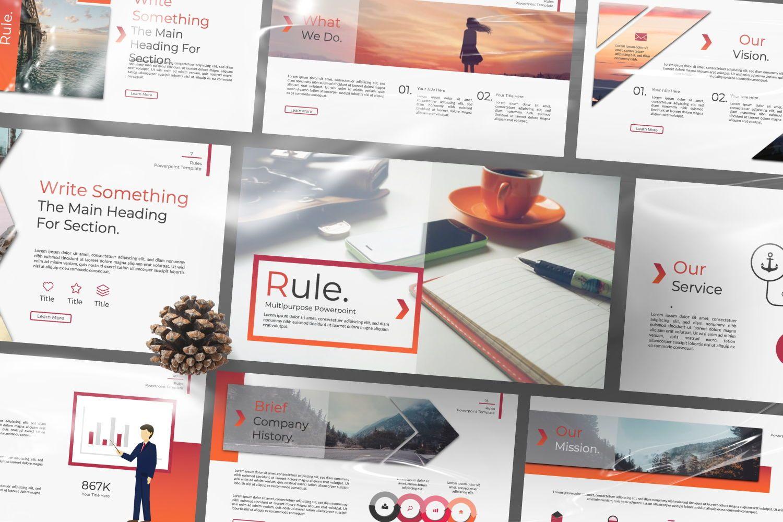 Rule Creative Powerpoint, Slide 3, 07365, Presentation Templates — PoweredTemplate.com