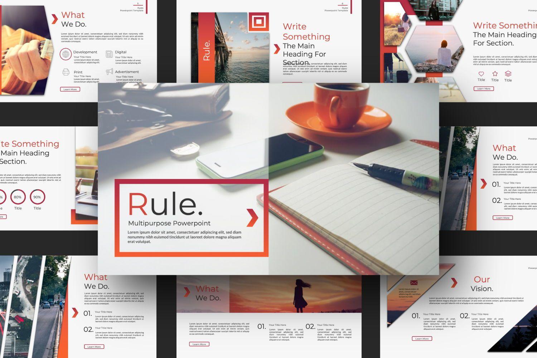 Rule Creative Powerpoint, Slide 4, 07365, Presentation Templates — PoweredTemplate.com