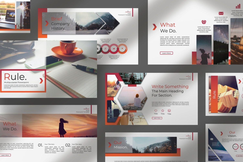 Rule Creative Powerpoint, Slide 7, 07365, Presentation Templates — PoweredTemplate.com