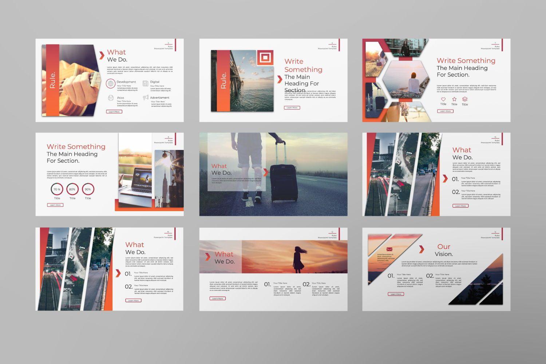 Rule Creative Powerpoint, Slide 9, 07365, Presentation Templates — PoweredTemplate.com