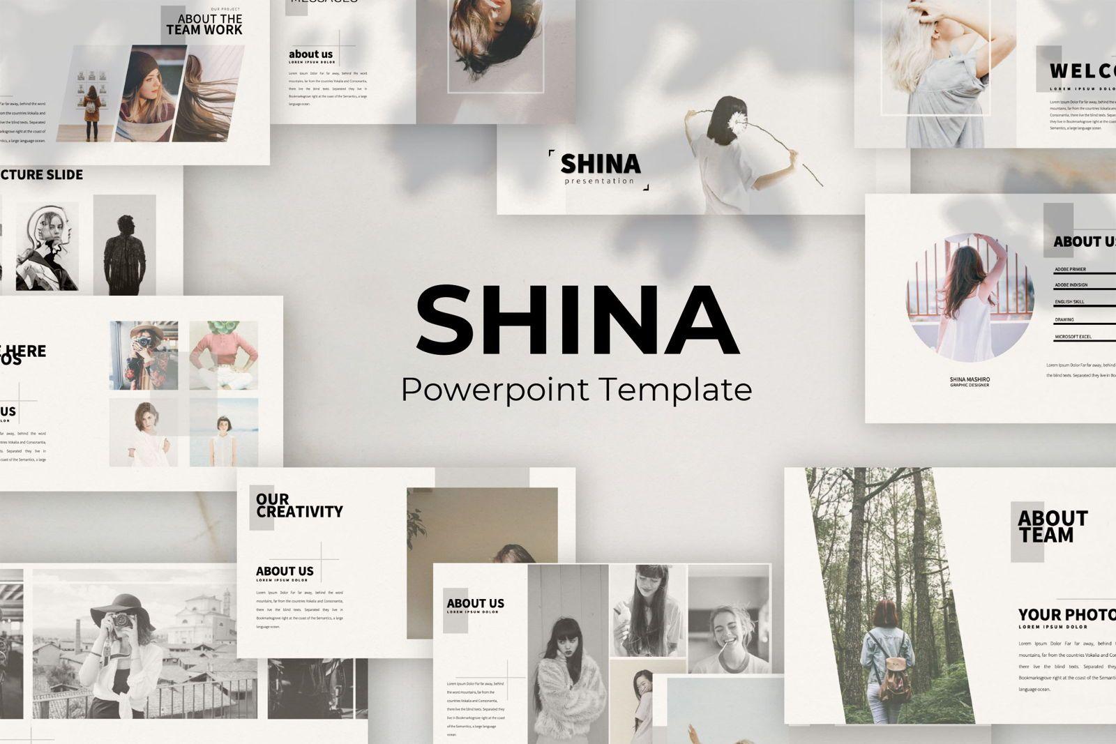 Shina Business Powerpoint, 07366, Presentation Templates — PoweredTemplate.com
