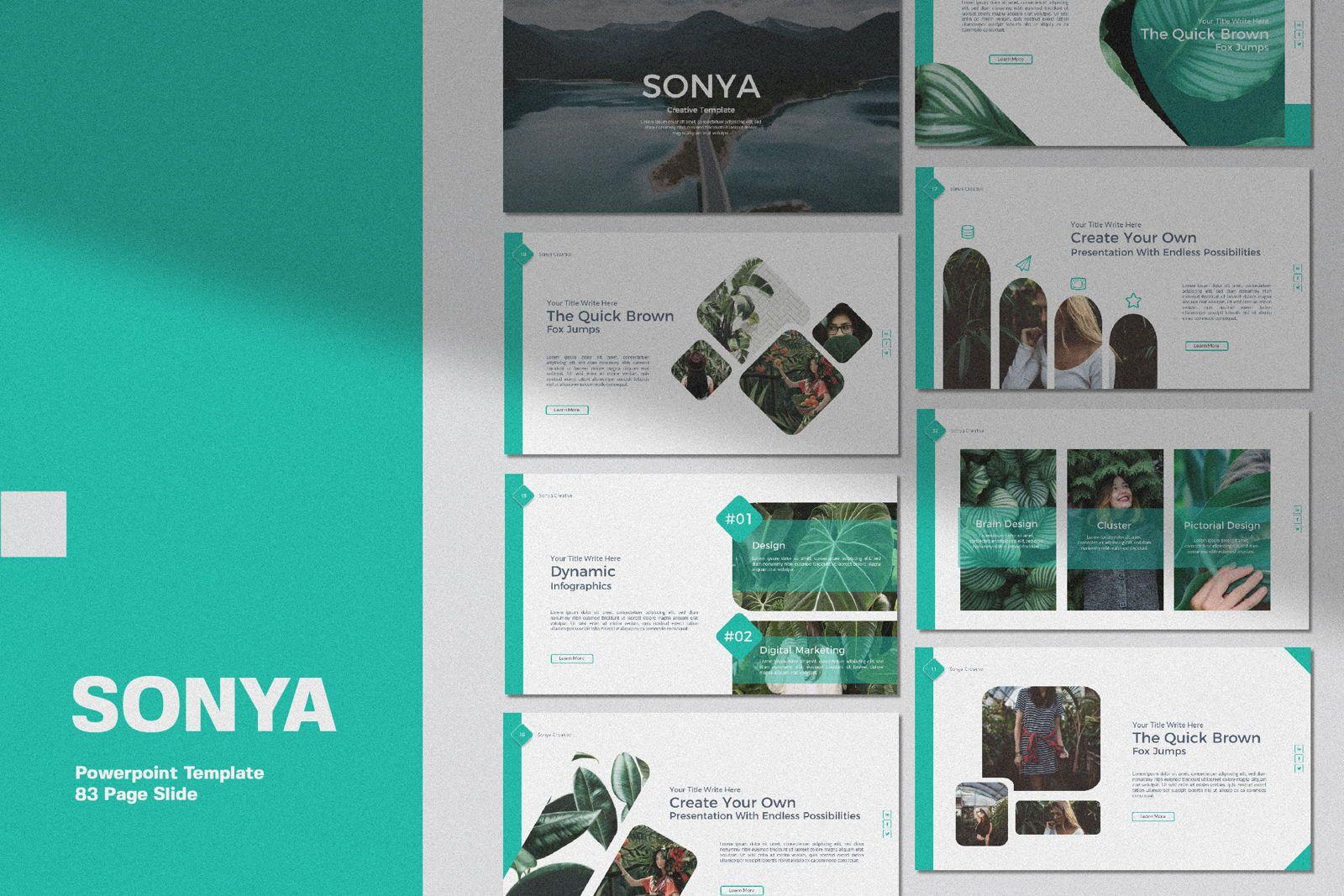 Sonya Creative Business Powerpoint, 07367, Presentation Templates — PoweredTemplate.com