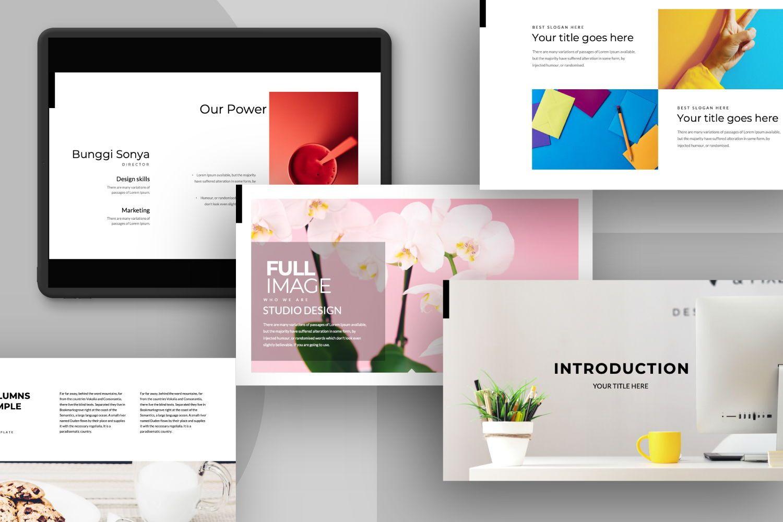 Sonya Bunggi Creative Google Slide, 07368, Presentation Templates — PoweredTemplate.com