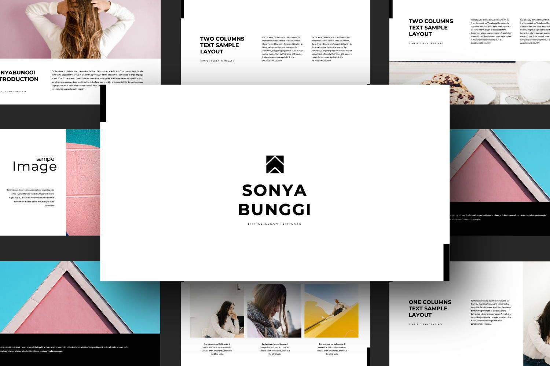 Sonya Bunggi Creative Google Slide, Slide 3, 07368, Presentation Templates — PoweredTemplate.com