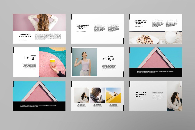 Sonya Bunggi Creative Google Slide, Slide 5, 07368, Presentation Templates — PoweredTemplate.com