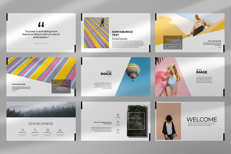 Sonya Bunggi Creative Google Slide, Slide 6, 07368, Presentation Templates — PoweredTemplate.com