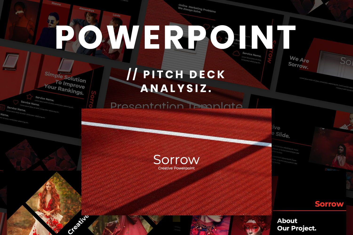 Sorrow Business Powerpoint, 07369, Presentation Templates — PoweredTemplate.com