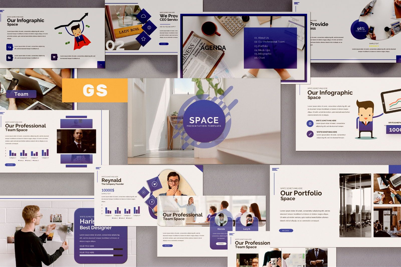 Space Business Google Slide, 07370, Presentation Templates — PoweredTemplate.com