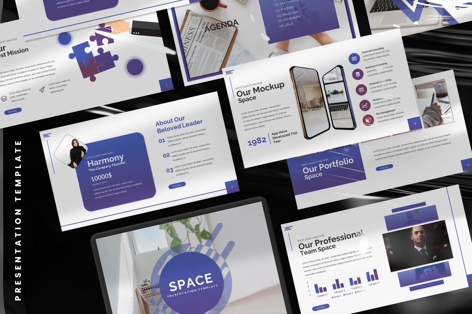 Space Business Google Slide, Slide 2, 07370, Presentation Templates — PoweredTemplate.com