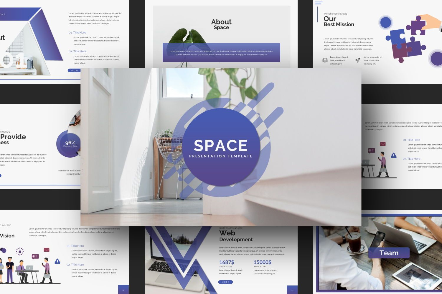 Space Business Google Slide, Slide 3, 07370, Presentation Templates — PoweredTemplate.com