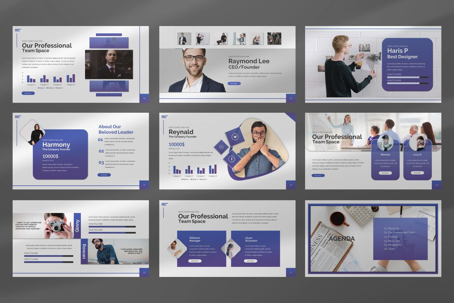 Space Business Google Slide, Slide 6, 07370, Presentation Templates — PoweredTemplate.com