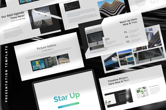 Presentation Templates: Star Up Creative Powerpoint #07372