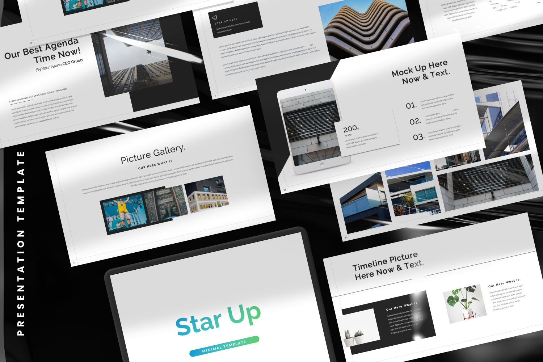 Star Up Creative Powerpoint, 07372, Presentation Templates — PoweredTemplate.com