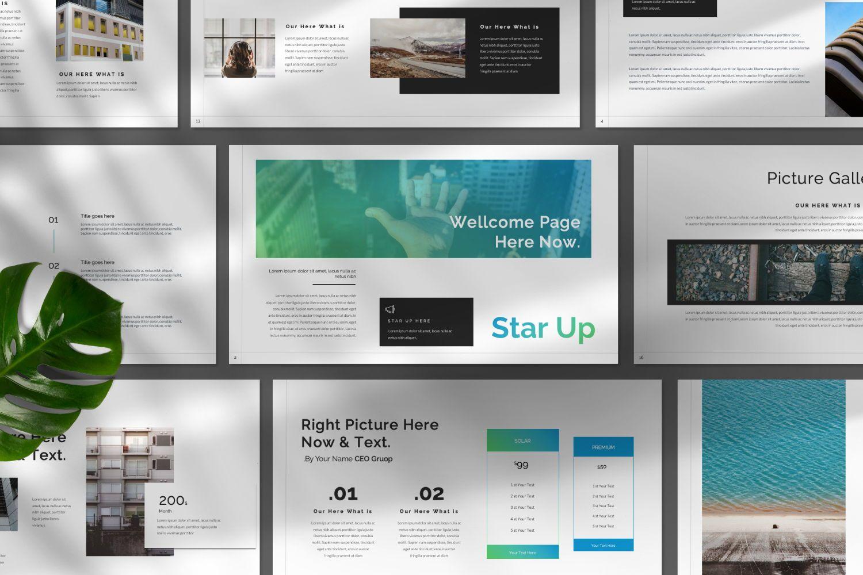Star Up Creative Powerpoint, Slide 9, 07372, Presentation Templates — PoweredTemplate.com