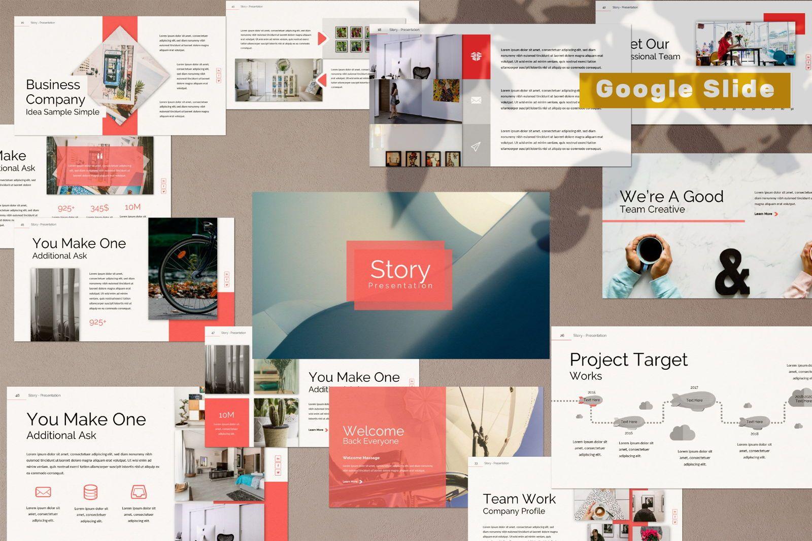 Story Business Google Slide, 07373, Presentation Templates — PoweredTemplate.com