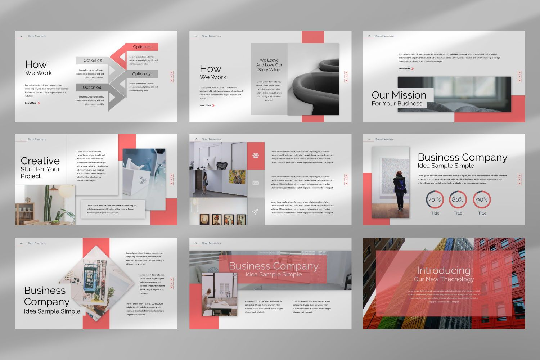 Story Business Google Slide, Slide 4, 07373, Presentation Templates — PoweredTemplate.com