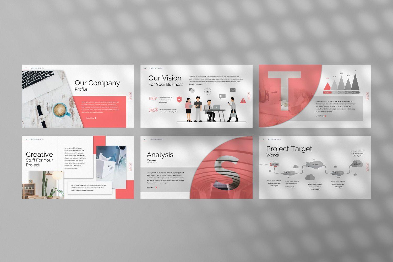 Story Business Google Slide, Slide 5, 07373, Presentation Templates — PoweredTemplate.com