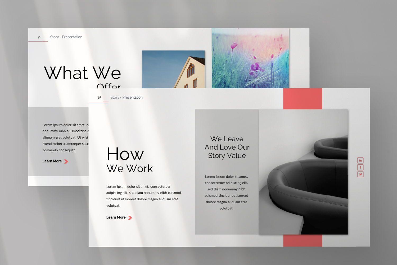 Story Business Google Slide, Slide 6, 07373, Presentation Templates — PoweredTemplate.com