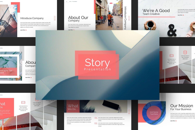 Story Business Google Slide, Slide 7, 07373, Presentation Templates — PoweredTemplate.com