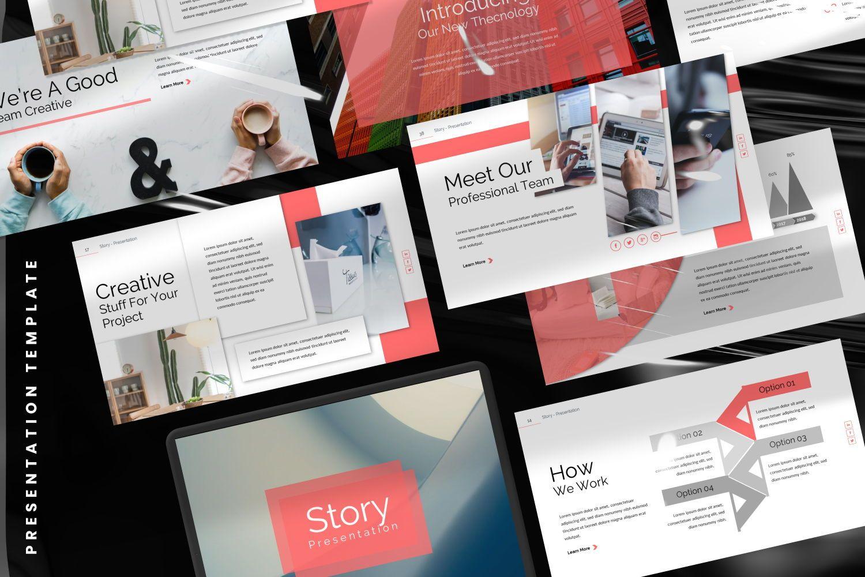 Story Business Google Slide, Slide 8, 07373, Presentation Templates — PoweredTemplate.com