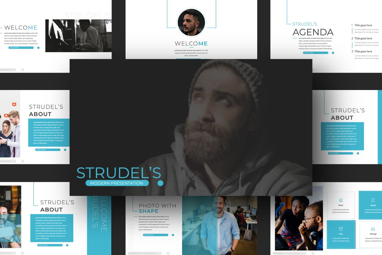 Strudel's Business Powerpoint, 07375, Presentation Templates — PoweredTemplate.com