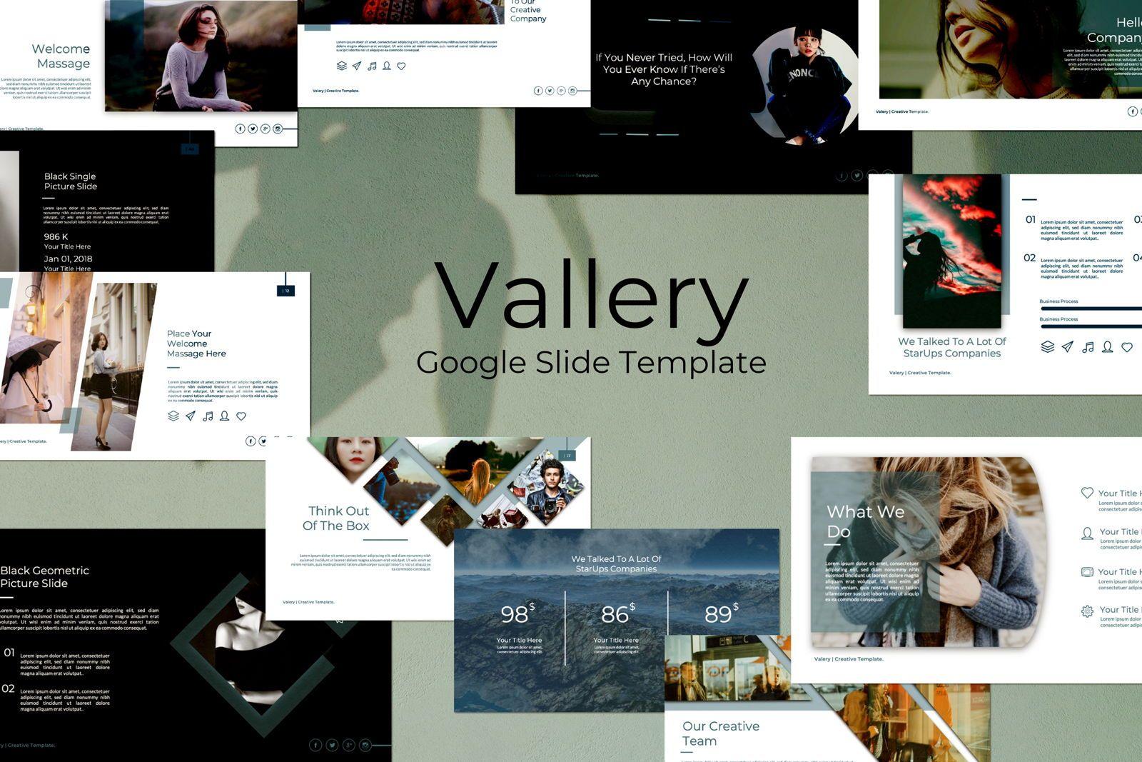 Vallery Business Google Slide, 07380, Presentation Templates — PoweredTemplate.com
