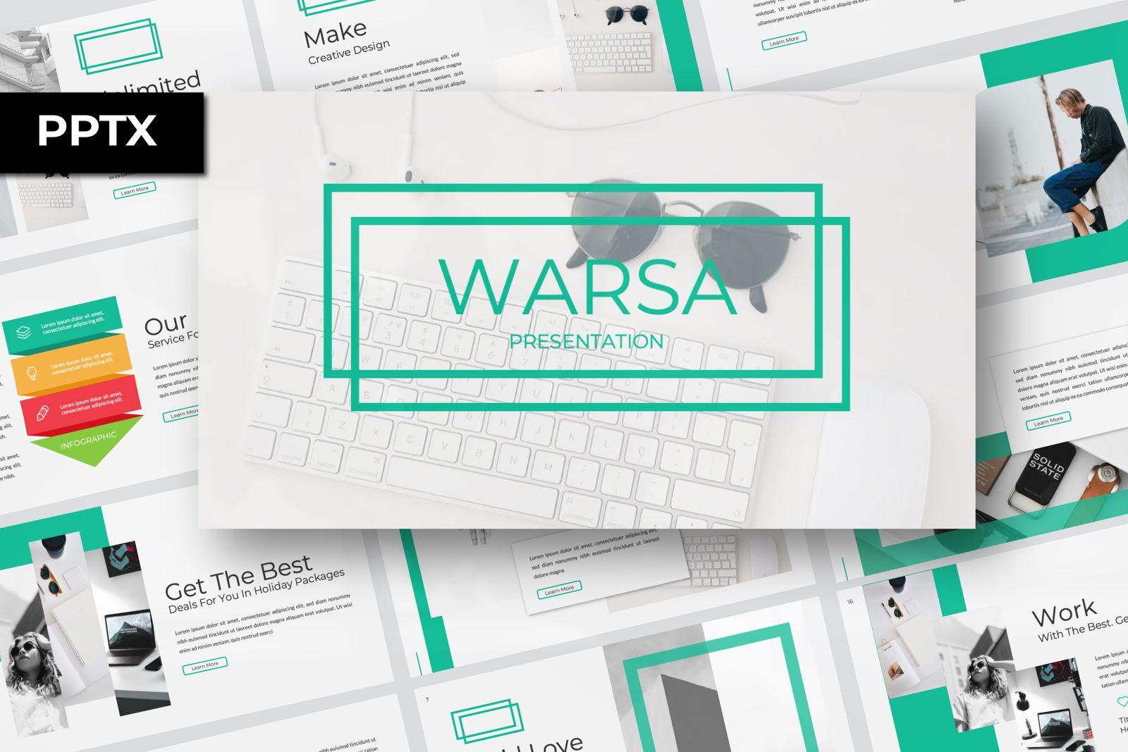 Warsa Business Powerpoint, 07381, Presentation Templates — PoweredTemplate.com