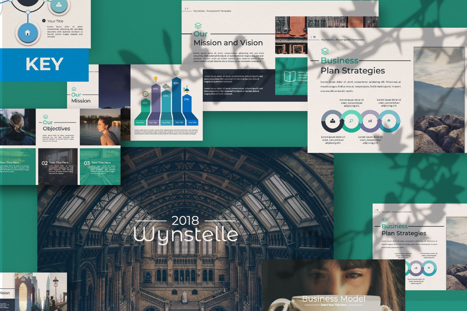 Wynstelle Creative Keynote, 07382, Presentation Templates — PoweredTemplate.com