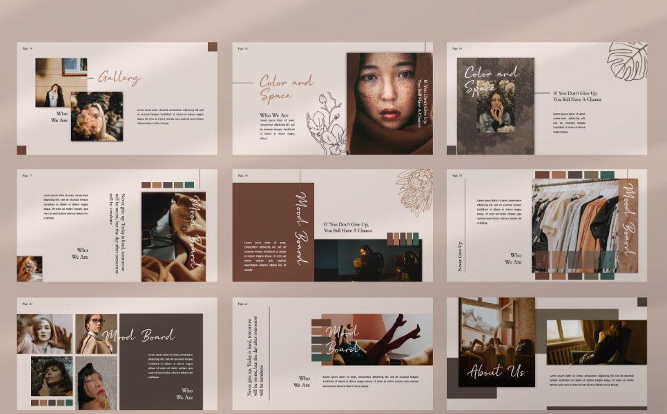 Yorushika Creative Keynote, Slide 2, 07385, Presentation Templates — PoweredTemplate.com
