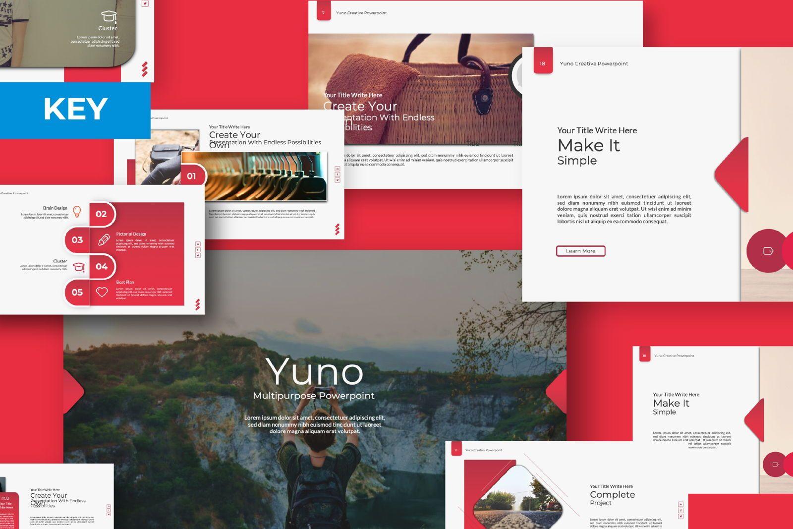 Yuno Business Google Slide, 07389, Presentation Templates — PoweredTemplate.com
