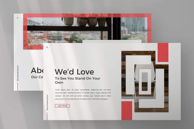 Rits Creative Google Slide, Slide 4, 07394, Presentation Templates — PoweredTemplate.com
