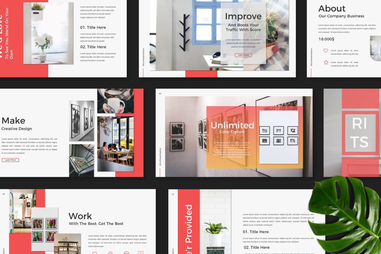 Rits Creative Google Slide, Slide 5, 07394, Presentation Templates — PoweredTemplate.com